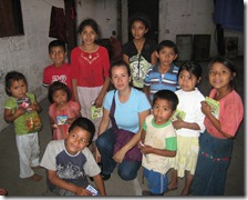On my last day in Dueñas, I gave crayons and puzzles to children who work in the coffee fields.